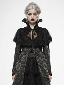 Gothic Nobe Queen Pearl Mesh Cape