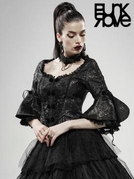 Gothic Victorian Blurred Illusion Jacket