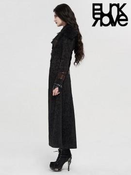 Steampunk Fur Trim Warm Long Coat