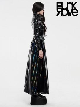 Cyber Rococo Long Black Coat