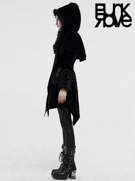 Gothic Fake Two-Cloaks Hooded Coat
