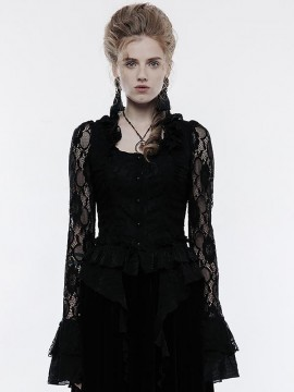 Gothic Victorian Lace Shirt