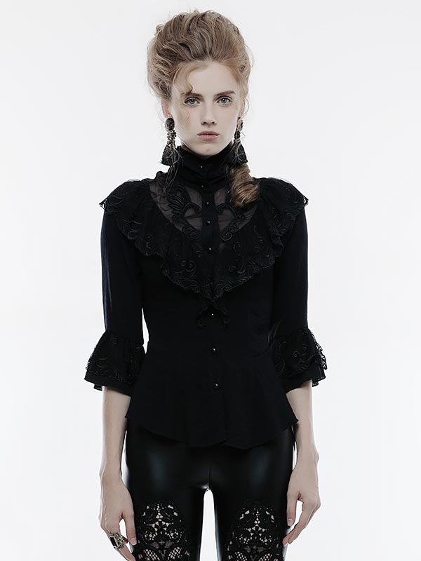 Gothic Phoenix Tail Three-Quarter Sleeve Shirt