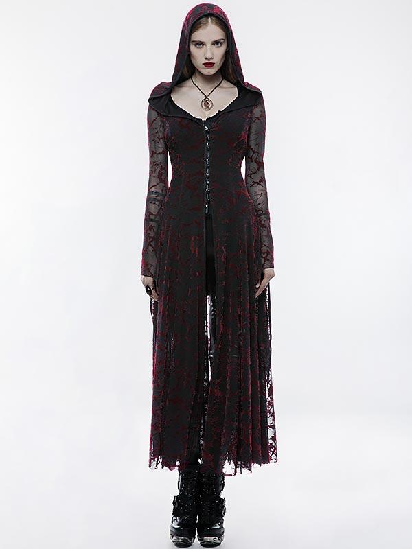 Gothic Flame Long Coat