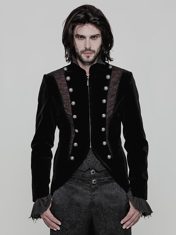 Mens Gothic Short Dress Coat