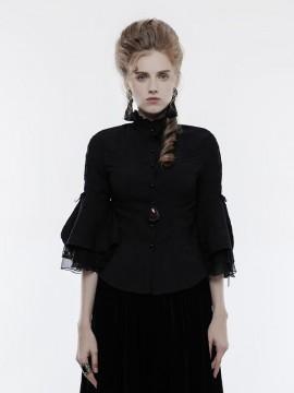 Gothic Cropped Sleeve Shirt
