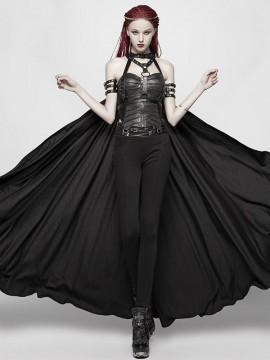 Punk Adjustable Harness Cape With Chains