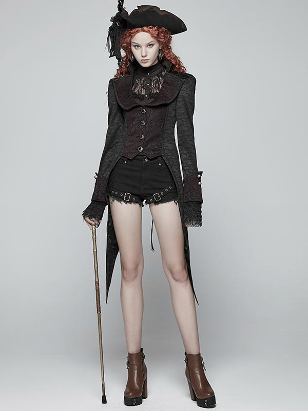Gothic Swallow Tail Dress Coat