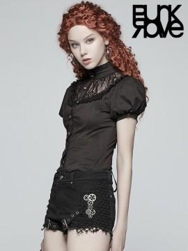 Steampunk Short Sleeve Black Shirt