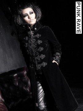 Gothic Palace Court Velveteen Coat - Black