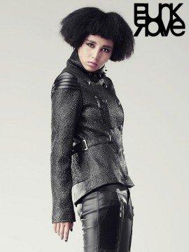 Punk Futuristic Warrior Leather Jacket
