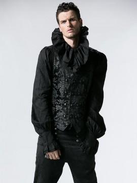 Mens Gothic Noble Palace Waistcoat - Black