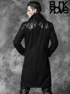 Mens Gothic Bat Wing Long Coat