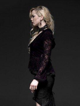 Gothic Two-Tone Long Sleeve Jacket - Violet