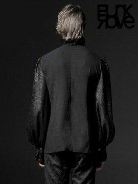 Mens Gothic Long Sleeve Shirt - Black
