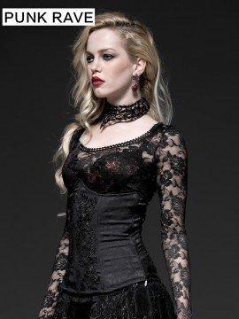 Gothic Black Rose Corset