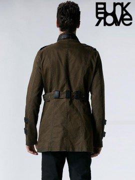 Mens Army Retro Long Coat