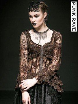 Gothic Lace Retro Shirt - Bronze
