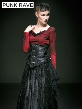 Gothic Rose Leather and Lace Corset