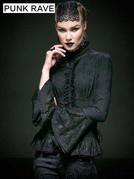 Pretty Gothic Long Sleeve Shirt - Black