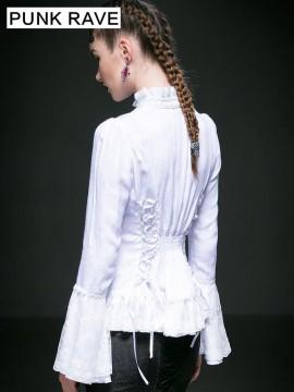 Pretty Gothic Long Sleeve Shirt - White