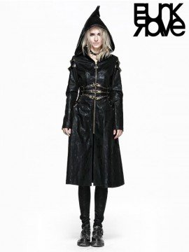 Gothic Witch Leather Coat
