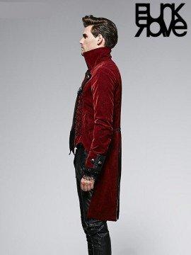 Mens Victorian Gothic Dark Rose Coat