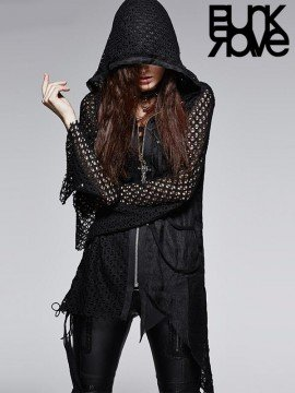 Punk Knitwear Hoodie Jacket
