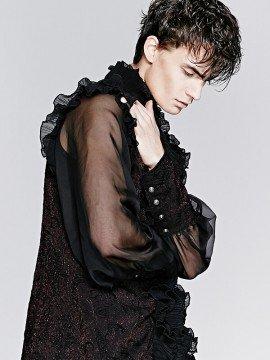 Mens Gothic Lantern Sleeve Shirt