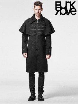 Mens Gothic Military Woolen Cloak