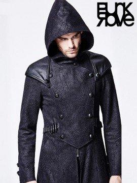 Mens Punk Killer Long Coat