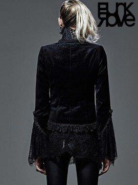 Gothic Dark Cashew Flower Pattern Jacket