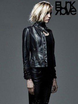 Punk Cone Rivet Leather Jacket