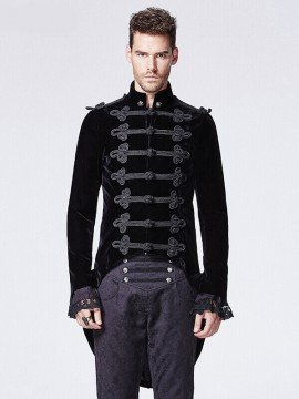 Mens Victorian Gothic Swallow Tail Coat