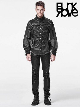 Mens Gothic Fall and Winter Long Sleeve Shirt