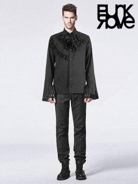 Mens Gothic Horn Sleeve Dark Print Shirt
