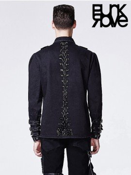 Mens Punk Vertebra Spine Shirt