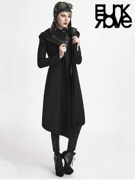 Gothic Witch Woolen Hooded Coat
