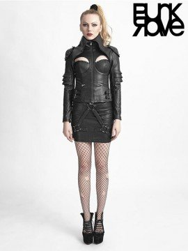 Warrior Woman Leather Jacket - Black
