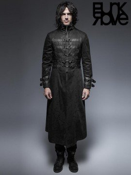 Mens Gothic Killer Long Coat