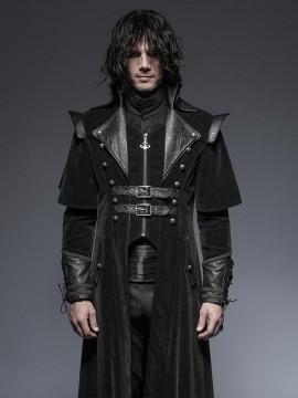 Mens Gothic Pirate Cloak Style Long Coat