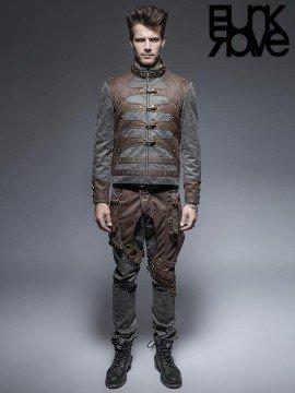 Mens Steampunk Leather Jacket