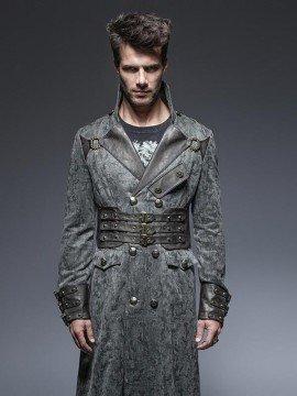 Mens Steampunk Long Coat