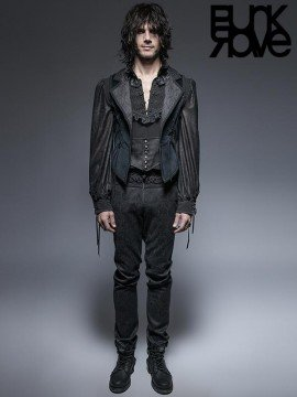 Mens Gothic Victorian Long Tuxedo Coat
