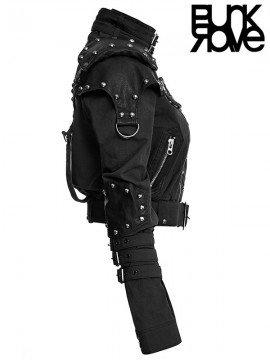 Rivet Decorated Military Jacket - Black