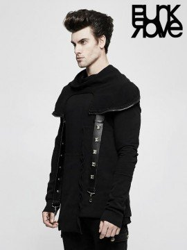 Mens Gothic Warrior Sweater with Masked Hood