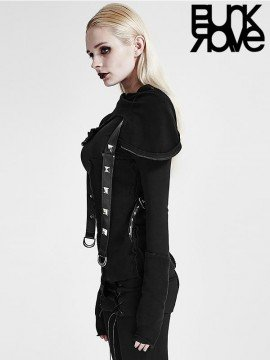 Gothic Warrior Sweater with Masked Hood