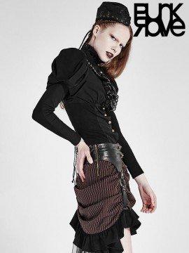Steampunk Corset Shirt - Black