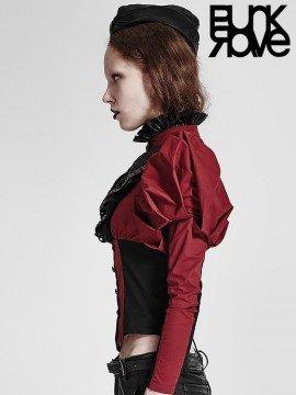 Steampunk Corset Shirt - Black & Red