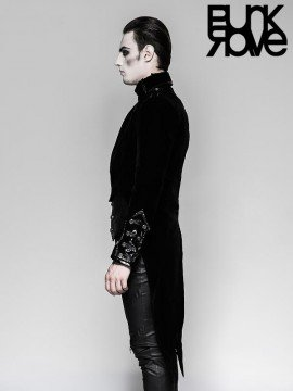Mens Gothic Military Swallow Tail Dress Jacket